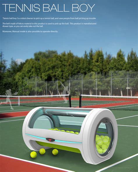 tennis ball collector the ball boy yanko design