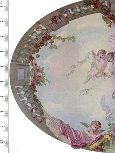 Dollhouse Ceiling Wallpaper by Dollhouse Wallpaper Mural Ceiling Sky Cupid Roses By
