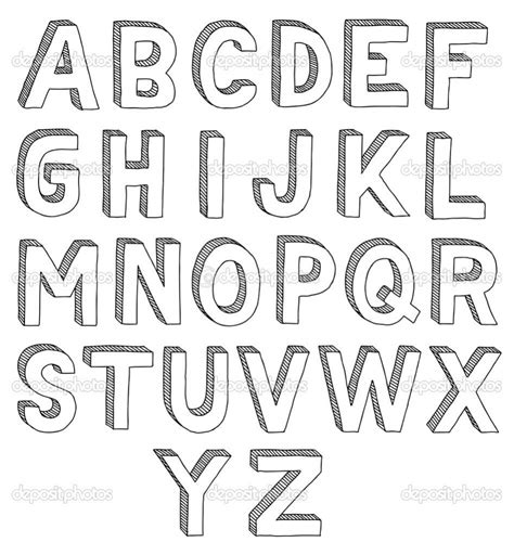 How To Draw Letters how to draw 3d alphabet letters how to draw the alphabet