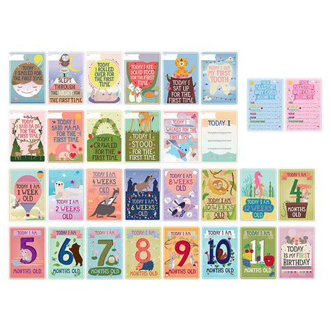 baby sts for card milestone baby card record set of 30 by baby