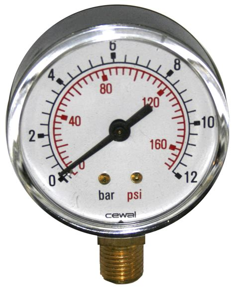 Manometer For Spray Gun Wipro Mf 5 radial manometer 1 4 conical 63mm 0 to 12 bar