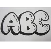 How To Draw Bubble Letters  All Capital YouTube