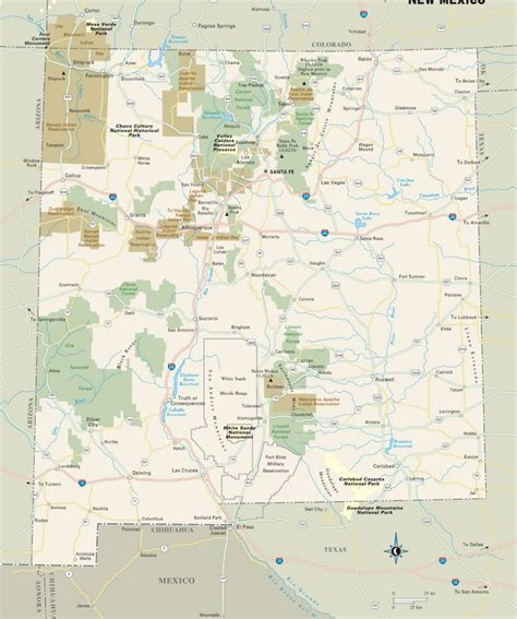 forest map of usa new mexico national parks monuments and forests map
