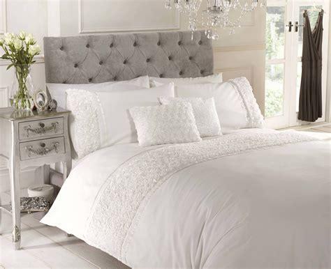 cream bedding cream raised rose duvet quilt cover bedset bedding 4 sizes