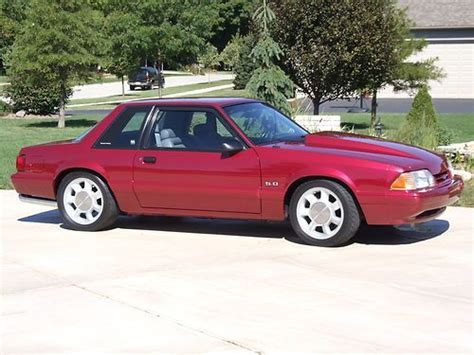 electric and cars manual 1989 ford mustang free book repair manuals buy used 1993 mustang 5 0 lx electric red gray interior aod 14 000 orig miles in yorkville