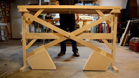 build your own sit stand desk this custom built wooden counterweight sit stand desk is