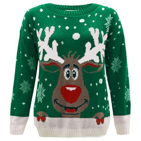 Printable Christmas Jumper | new kids girls boy reindeer print christmas jumper