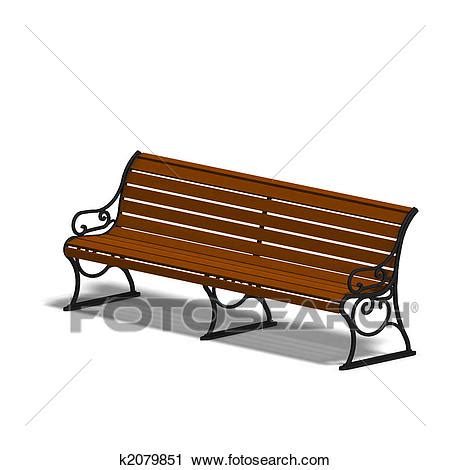 park bench clipart clipart of park bench k2079851 search clip art