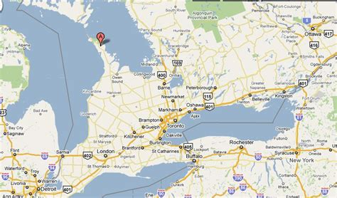 maps ontario directions lake ontario canada map images