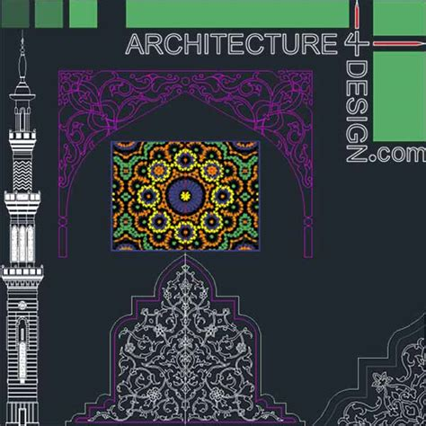 islamic pattern cad file autocad collection of islamic decoration pieces