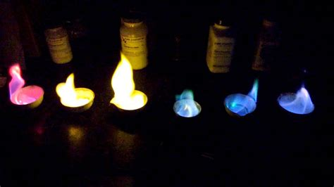 sodium color rainbow chemistry demo