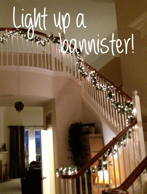 Banister Lights by Project Light Up Your Stairway Banister Shellie At
