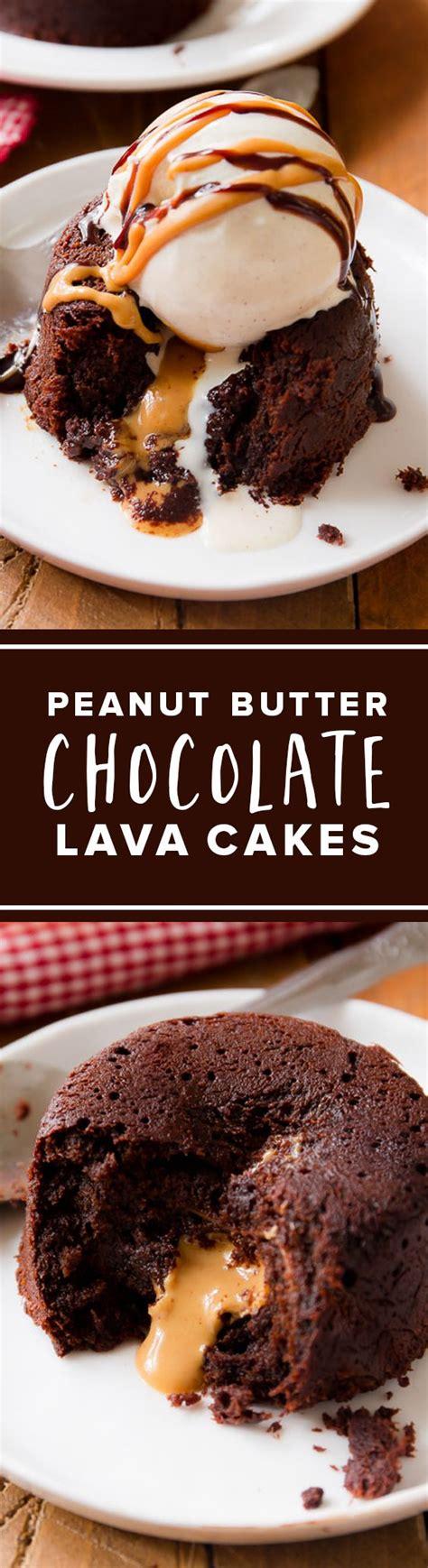 peanut butter chocolate lava cakes sallys baking addiction