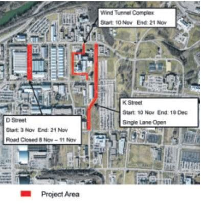 paving projects planned for areas a, b this month > wright