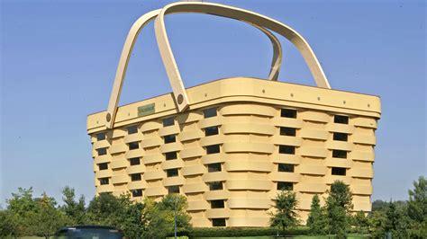 longaberger building a picnic basket shaped building is on the market for 5