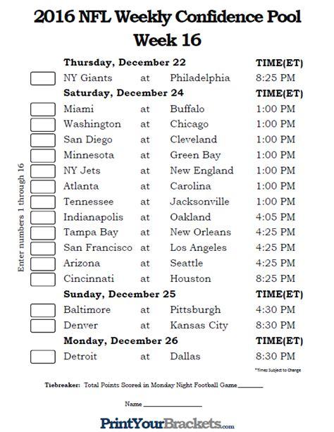 printable nfl schedule week 17 week 15 week 17