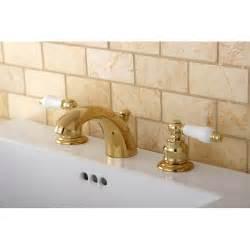 Overstock Bathroom Fixtures Mini Widespread Polished Brass Bathroom Faucet 14228660 Overstock Shopping Great Deals