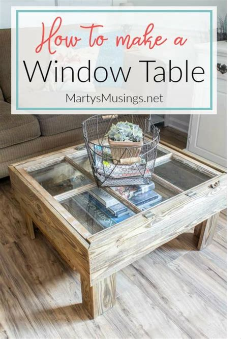 How To Make Furniture Look Rustic by How To Make A Window Table For The Rustic Look
