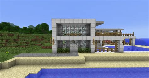 beach house side modern beach side house minecraft project