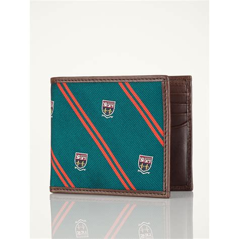 Polo Wallet For polo ralph silk tie billfold wallet in green for lyst