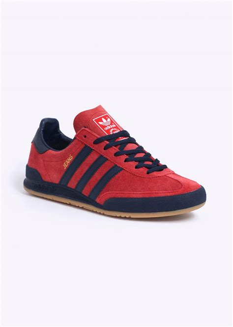 adidas originals jeans mkii trainers red collegiate navy