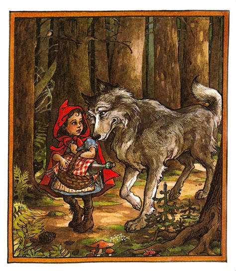 little red riding hood and wolf illustration the art of children s picture books little red riding