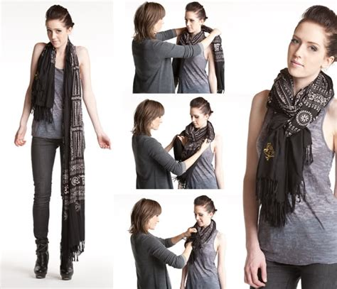 different ways to tie your scarf wehotflash