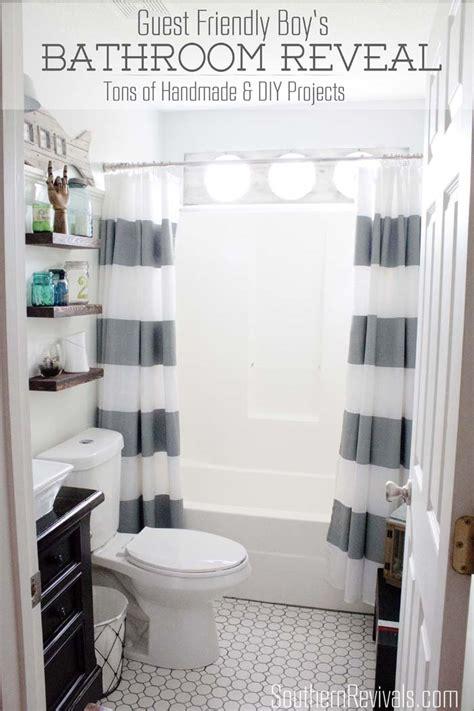 Boys In Bathroom by Nautical Guest Friendly Boys Bathroom Makeover Reveal