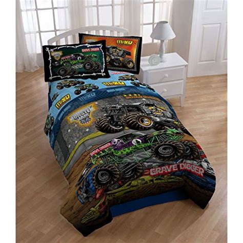 4pc monster jam twin bedding set grave digger monster