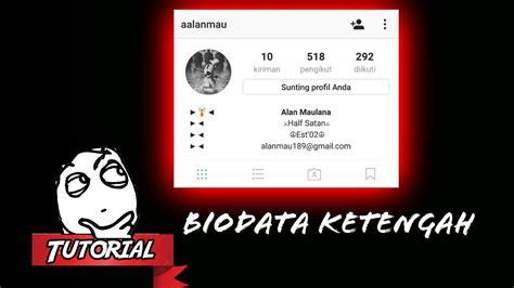 bio instagram jadi di tengah cara merubah posisi biodata instagram menjadi ke tengah