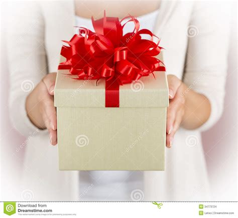 beautiful gifts hands holding beautiful gift box stock images image