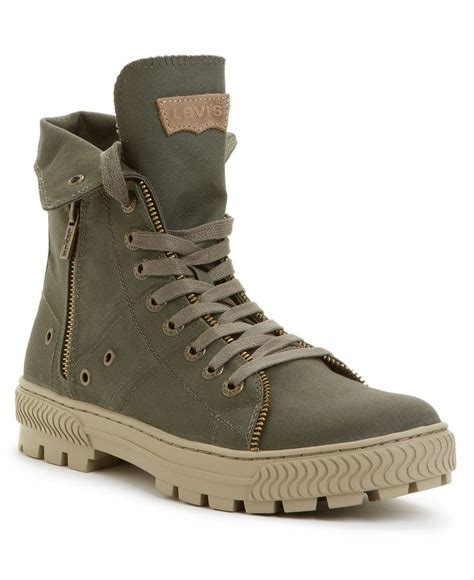 high top boots levi s canvas hi top boots