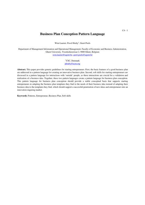 pattern language pdf free business plan conception pattern language pdf download