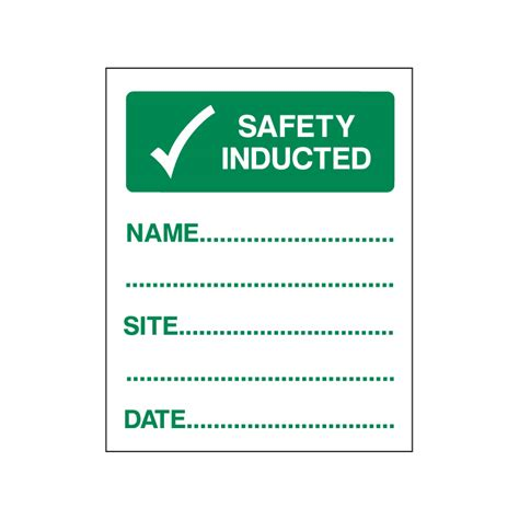 Site Induction Helmet Stickers helmet induction sticker enfield safety