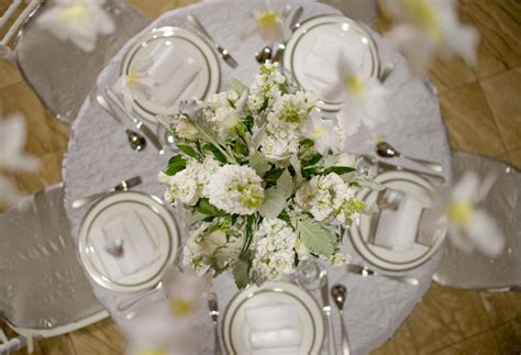 silver and white table centerpieces inspired creations winter wedding tablescape the