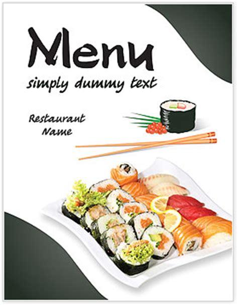 Sushi Menu Template Design Id 0000002046 Smiletemplates Com Sushi Menu Template Free
