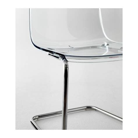 tobias chair clear chrome plated