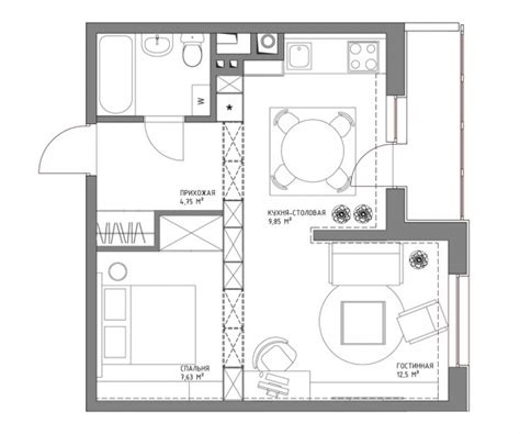 500 sq m to sq ft living small with style 2 beautiful small apartment plans