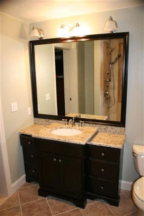 bathroom remodel remove cabinet and stand alone sink with