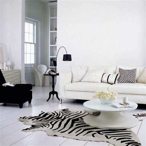 canapé noir et blanc design d 233 coration salon zebre