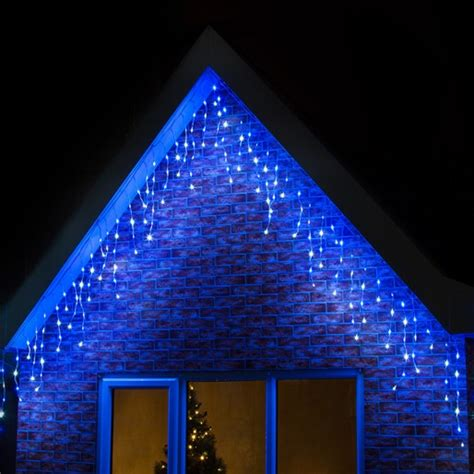 blue  white outdoor christmas lights lighting