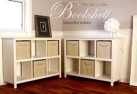 white 6 cube bookshelf diy projects