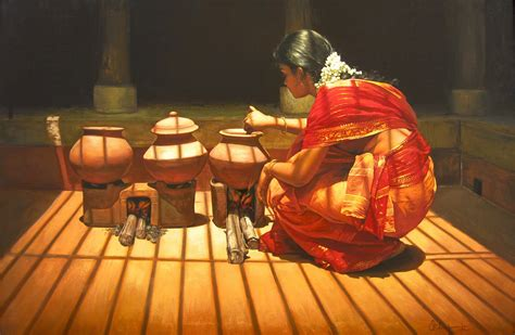 painting cooking indian tamil indian cultural dress paintings