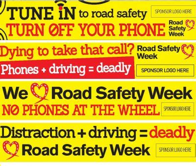 printable road safety banner road safety week banner brake the road safety charity