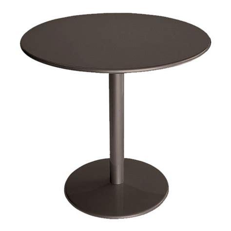 emu 902 bistro table 32 quot diameter solid pedestal bronze
