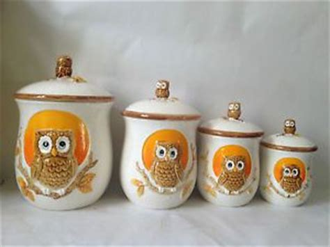 owl canisters for the kitchen 20 best images about owl kitchen on pinterest vintage
