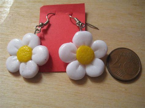 fimo fiori fimo orecchini fiore margherita gioielli orecchini