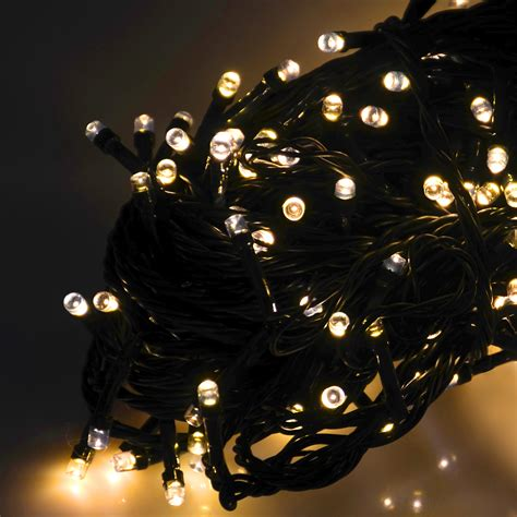 string of 200 battery operated chasing led lights chain