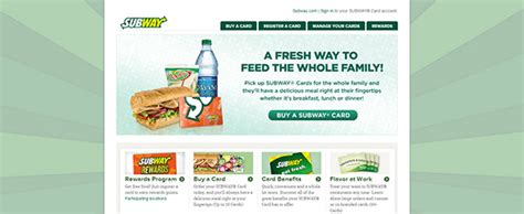 Check Subway Gift Card Balance - www mysubwaycard com subway rewards card