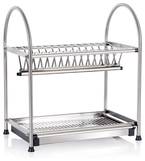 Modern Dish Rack Stainless Steel by Lifewit 2 Tier Stainless Steel Dish Rack Draining Storage